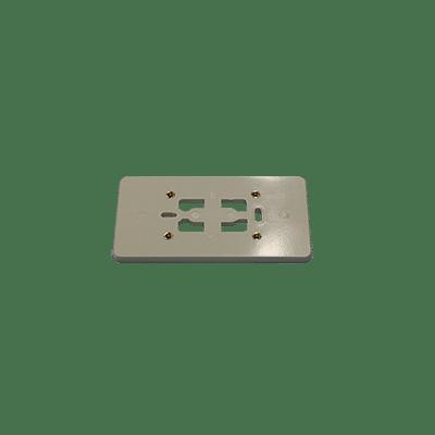 Montageplaat 2x enkelv. electrowit 2230862WI