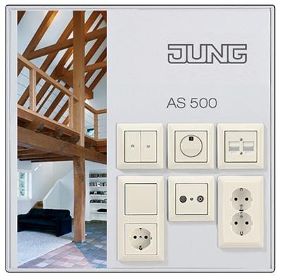 Monsterbord AS 500 voor woningbouw wit