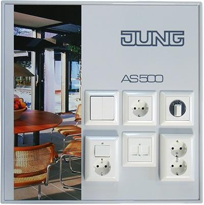 Monsterbord AS 500 voor woningbouw alpine wit