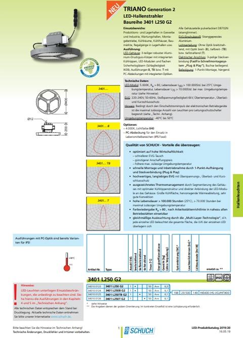 Datablad Schuch TRIANO G2
