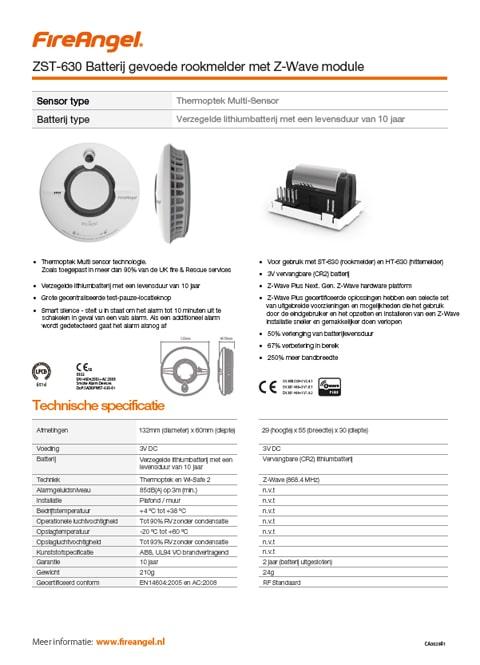 Datablad ZST-630 Z-WAVE module