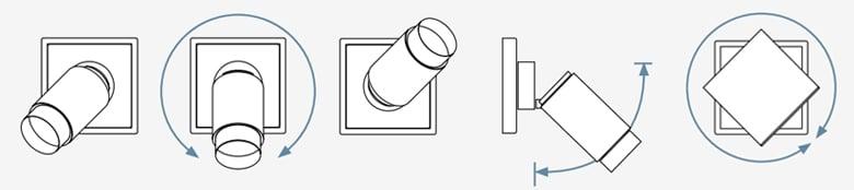 Plug & light traploos draaibaar